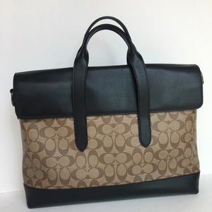 Coach laptop briefcase